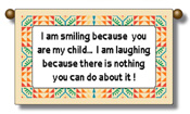 Smile Child Cute Saying Wall Hanging