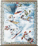 Snowmen Cotton Throw