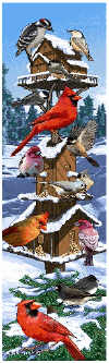 Winter Birds Bell Pull, $19.99